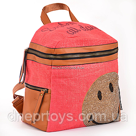 Сумка-рюкзак YES, красный 30х27х15 см (554411)