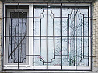 Решетка из металлических конструкций