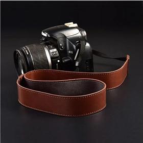 Плечевой нашейный Кожаный ремень для фотоаппарата