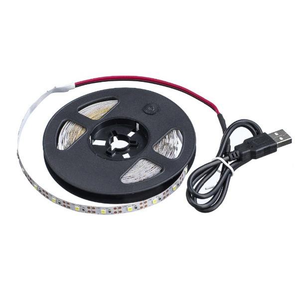 Світлодіодна стрічка з USB 2835 LED 200см. білий