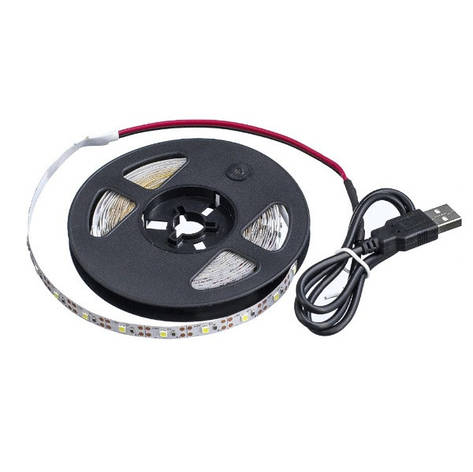 Світлодіодна стрічка з USB 2835 LED 200см. білий, фото 2
