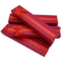 Подарочные коробки 205x46x23 Картон Бордовый