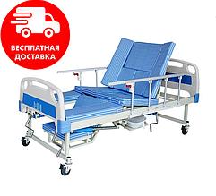 Медицинская кровать с туалетом и функцией бокового переворота MIRID E30. Кровать для реабилитации инвалида.