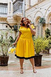 Жіноче літнє яскраве плаття Батал