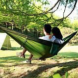 Туристический гамак таканевый с москитной сеткой Travel hammock net, фото 6