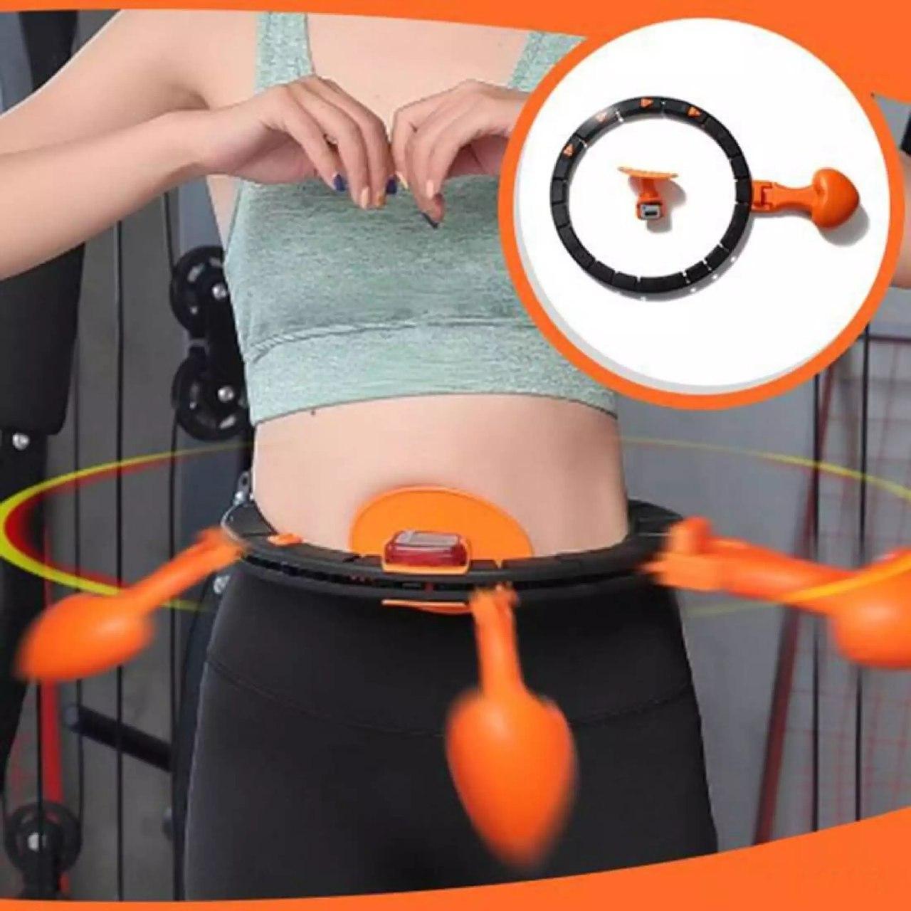 Хулахуп обруч для схуднення, фітнес коло для талії хула хуп з обважнювачем Hula Hoop