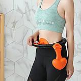 Хулахуп обруч для схуднення, фітнес коло для талії хула хуп з обважнювачем Hula Hoop, фото 2