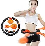 Хулахуп обруч для схуднення, фітнес коло для талії хула хуп з обважнювачем Hula Hoop, фото 4