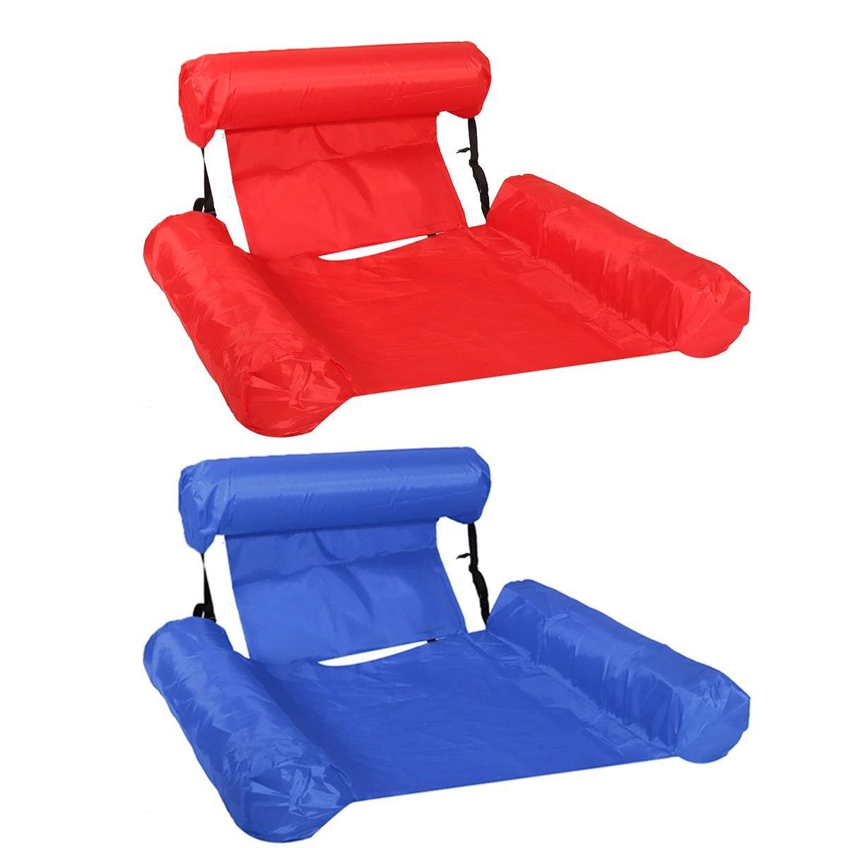 Inflatable floating bed Надувне пляжне крісло-гамак, надувний складаний матрац для відпочинку зі спинкою