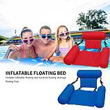 Inflatable floating bed Надувне пляжне крісло-гамак, надувний складаний матрац для відпочинку зі спинкою, фото 2