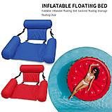 Inflatable floating bed Надувне пляжне крісло-гамак, надувний складаний матрац для відпочинку зі спинкою, фото 4