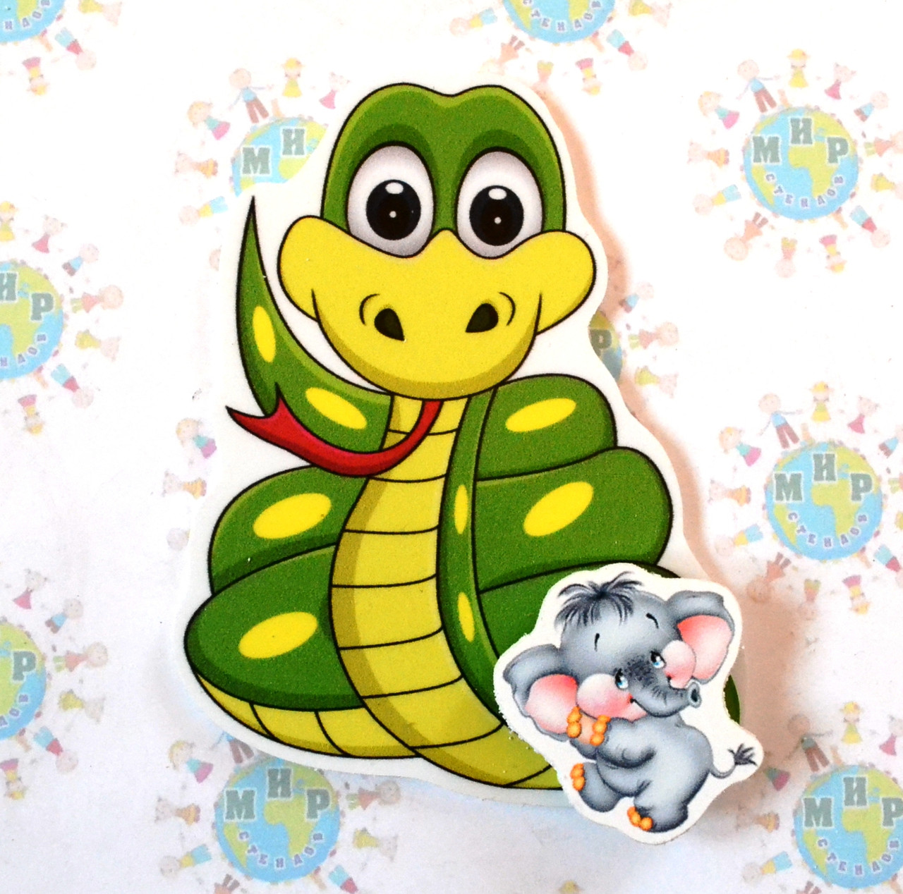 Магнитный стенд для крепления рисунка Змейка