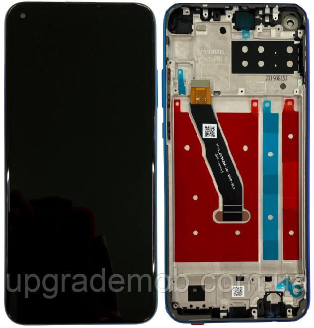 Дисплей Honor Play 3/Honor 9C тачскрин модуль черный в рамке синего цвета Aurora Blue