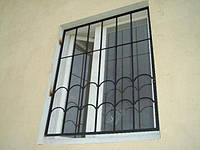 Распашные металлические решетки на окна