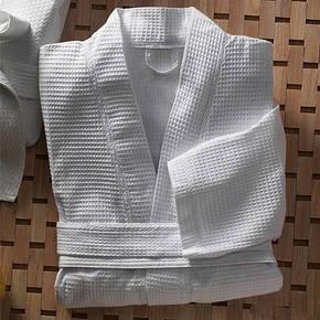 Халат белый, вафельный, фото 2