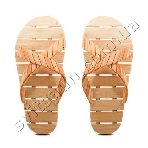 Тапочки дерев'яні