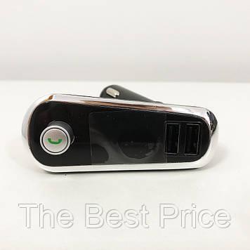 FM Трансмітер в машину SmartUS G11 BT ФМ модулятор автомобільний. Колір срібло