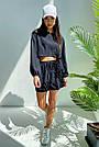 Костюм женский легкий летний шорты и топ черный, фото 3