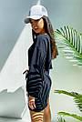 Костюм женский легкий летний шорты и топ черный, фото 4