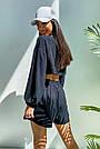 Костюм женский легкий летний шорты и топ черный, фото 5