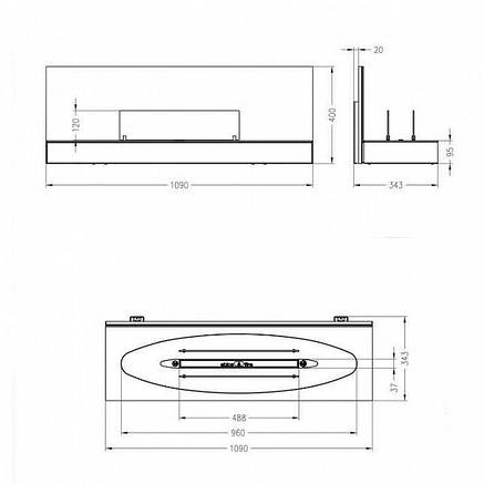 Настенный биокамин Spartherm Quadra Elipse Wall, фото 2