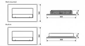 Настенный биокамин Spartherm Oxford 600, фото 2