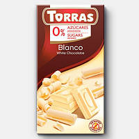 Шоколад без сахара и глютена Torras blanco (белый) Испания 75г