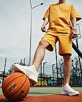 Чоловічий оверсайз комплект Саммер помаранчевий (шорти + футболка). Костюм оверсайз чоловічий річний футболка, фото 1