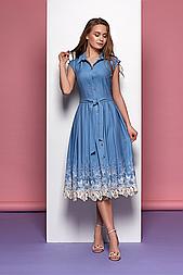 Жіноче плаття прилеглого силуету з орнаментом рішельє Style-nika Рішельє.