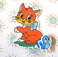Магнитный стенд для крепления рисунка Кошечка
