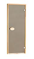 Двері для сауни стандартні, бронза 80*210 см
