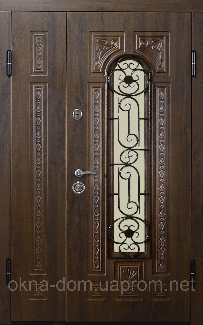"""Вхідні двері """"МІНІСТЕРСТВО ДВЕРЕЙ"""" ПК-139 V Дуб темний Vinorit, 1200"""