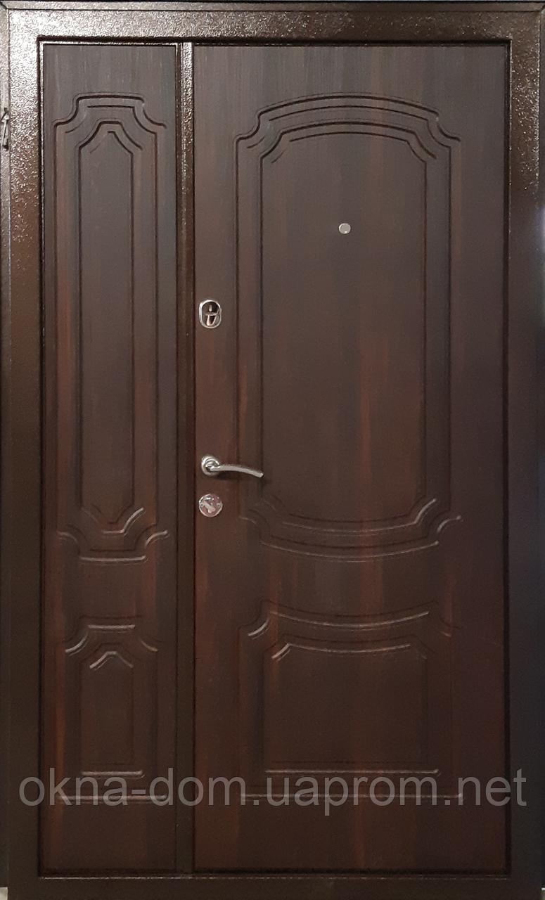 """Входная дверь """"МИНИСТЕРСТВО ДВЕРЕЙ"""" ПУ-01 Орех коньячный (ширина 1200)"""