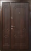 """Входная дверь """"МИНИСТЕРСТВО ДВЕРЕЙ"""" ПУ-01 Орех коньячный (ширина 1200), фото 1"""