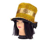 Шляпа Цилиндр (красный,фиолетовый)