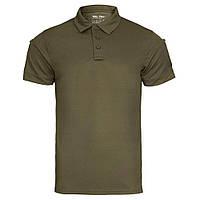 Тактическая потоотводящая футболка-поло Mil-tec цвет олива