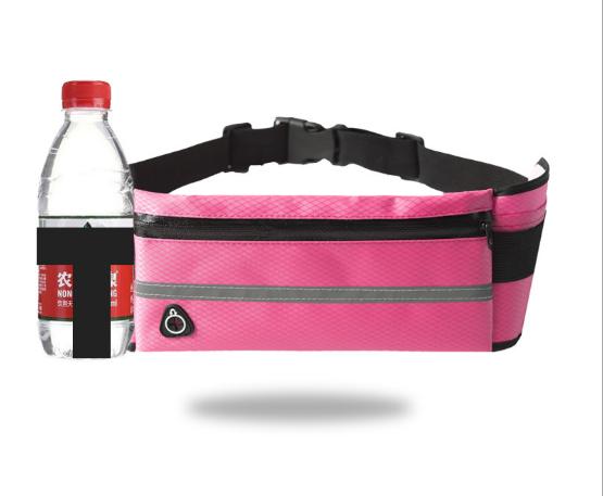 Спортивная сумка для телефона на пояс для бега. Бананка с креплением для бутылки. Сумка для спорта