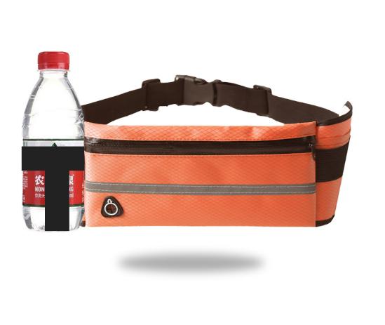 Спортивная сумка для телефона на пояс для бега. Бананка с креплением для бутылки. Сумка для занятий спортом