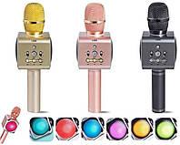 Портативный караоке микрофон светиться L888 разными цветами