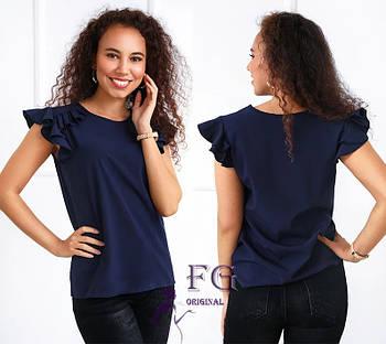 / Размер 42,44,46,48 / Женская блуза с воланами Teresa / цвет оливка