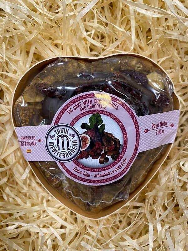 Пиріг інжирний з журавлиною та шоколадом 250 г THINK MEDITERRANEAN