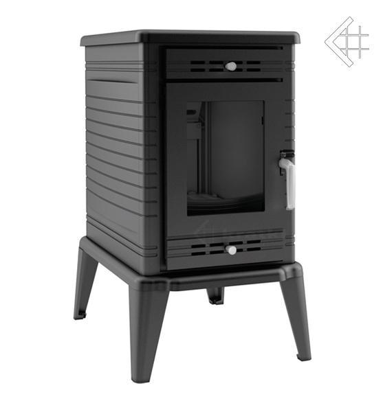 Чавунна камінна піч KRATKI KOZA K10 Ø130 подача повітря ASDP (10кВт) печі чавунні опалювальні для будинку