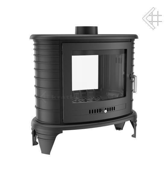 Чавунна піч-камін KRATKI KOZA K8 тунель (9 кВт) печі чавунні опалювальні для дому та дачі