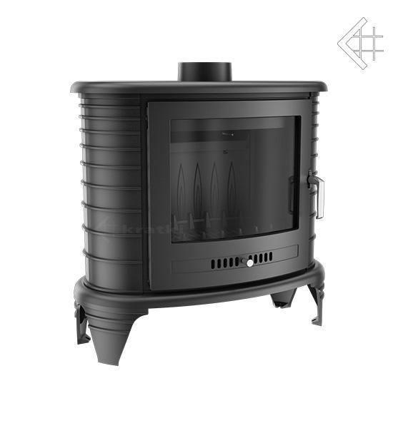 Чугунная печь-камин KRATKI KOZA K8 подача воздуха ASDP (9 кВт)  печи чугунные отопительные для дома и дачи