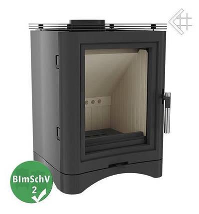 Чугунная и стальная печь-камин KRATKI KOZA K5 Ø 150 (7 кВт)  печи чугунные отопительные для дома и дачи, фото 2