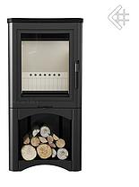 Сталева піч-камін KRATKI KOZA K5 S з нішею для дров (3-8кВт) печі стальні опалювальні для дому та дачі, фото 2