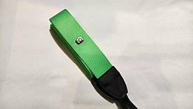 Плечевой нашейный ремень зеленый для фотоаппарата