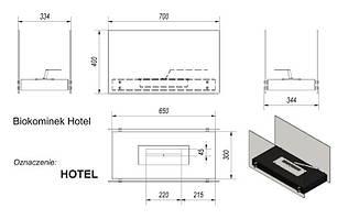 Біокамін KRATKI HOTEL Білий, фото 2