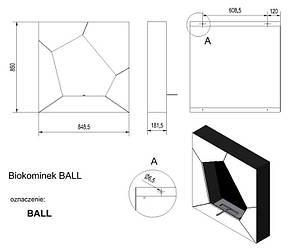 Биокамин KRATKI BALL, фото 2