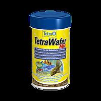 Корм для аквариумных рыб Tetra Wafer Mix 1 л корм для травоядных, хищных и донных рыб